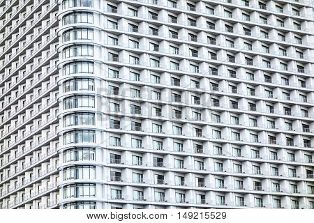 Facade of a skyscraper
