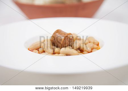 Beans Stew With Red Sausage