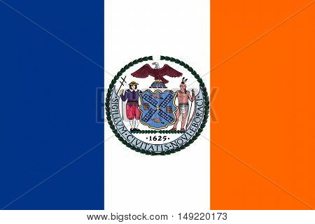 Flag of New York City or simply New York is the most populous city in the United States