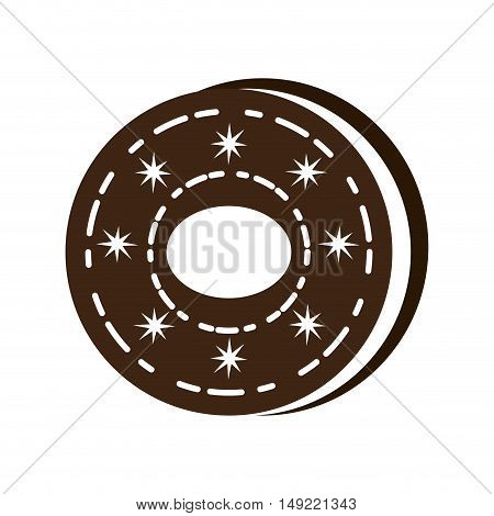 delicious sweet cookie icon vector illustration design