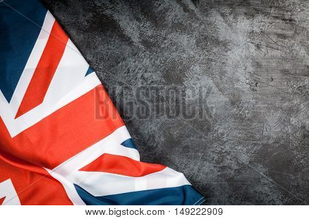 British flag on grey background