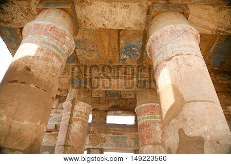Big Columns In Karnak Temple