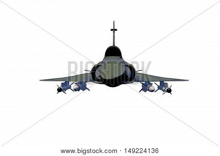 A jet fighter isolated (3d cartoon rendering)