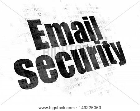 Privacy concept: Pixelated black text Email Security on Digital background