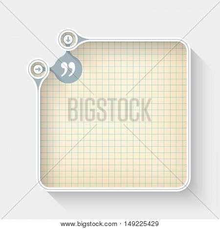 A white box for your text with graph paper and quotation mark