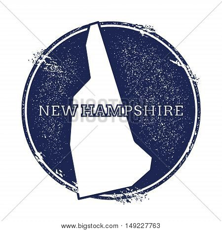 New Hampshire Vector Map. Grunge Rubber Stamp With The Name And Map Of New Hampshire, Vector Illustr