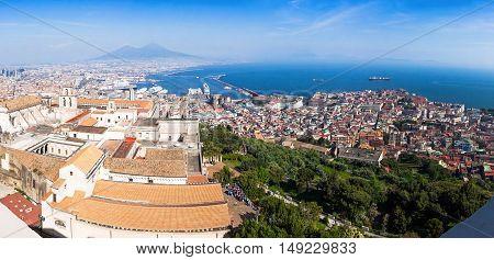 Panoramic View Of Naples City, Italy