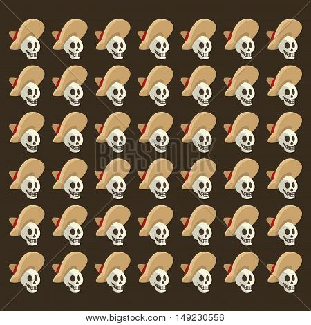 mariachi skeleton mexican culture pattern background image vector illustration