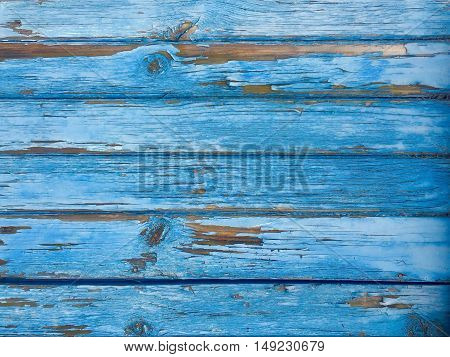 Old wooden background in blue colour. Photo taken on: September 27, 2016