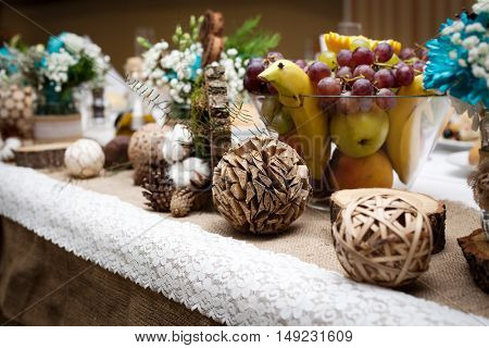 Festive table decorations