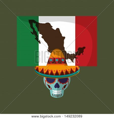mexican culture related icons image vector illustration