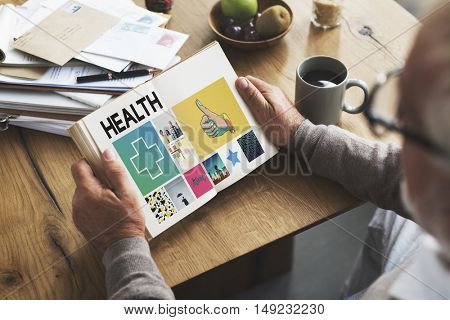 Health Healthcare Wellness Book Concept