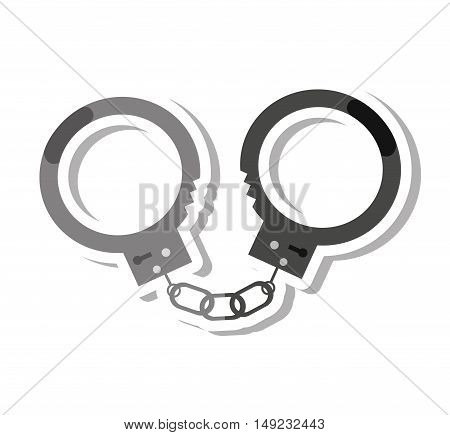 law handcuffs isolated icon vector illustration design