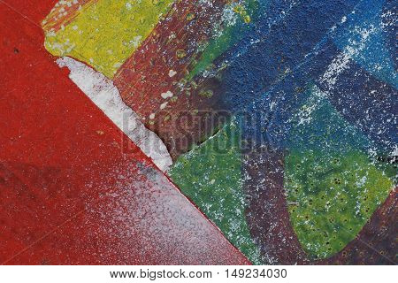 Colorful Torn Old Posters  As Abstract Colorful Textured Background 1