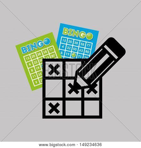 bingo casino game icon vector illustration design