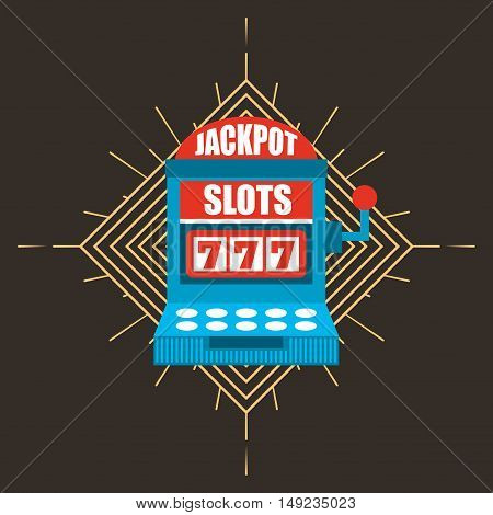 jackpot slots machiine casino icon vector illustration design
