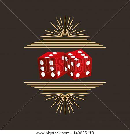 casino dices game icon vector illustration design