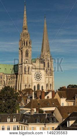 The our Lady of Chartres cathedral is one of the most visited tourist destination in France.It had included in the UNESCO World Heritage Llist.