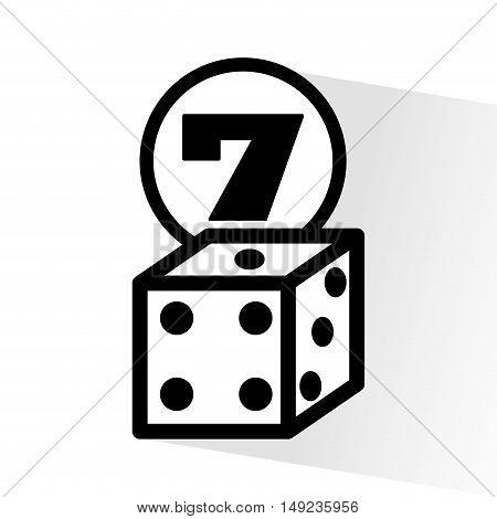 casino dice game icon vector illustration design