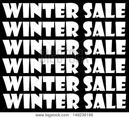 Abstract creative Christmas winter sales sign scene