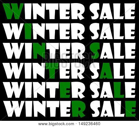 Abstract creative Christmas winter sale sign scene