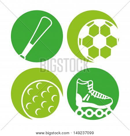 sport equipment icon vector illustration design eps10