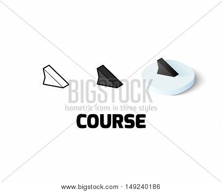Course icon, vector symbol in flat, outline and isometric style