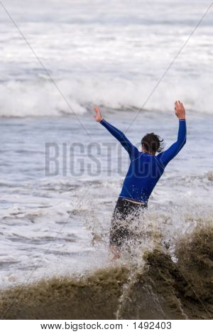 Skim Boarder Crashing