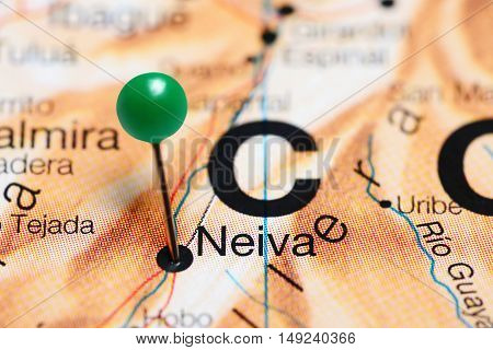 Neiva pinned on a map of Colombia