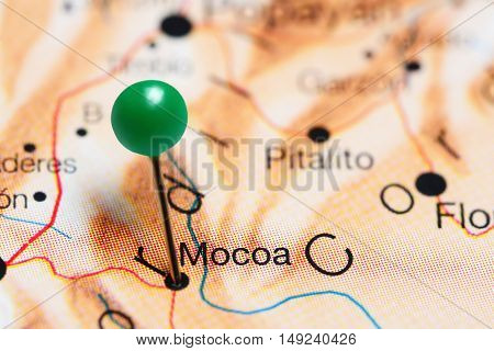 Mocoa pinned on a map of Colombia