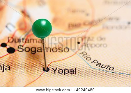 Yopal pinned on a map of Colombia