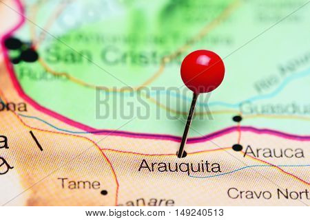 Arauquita pinned on a map of Colombia