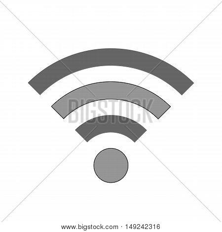 Wi-Fi symbol icon on white background. Vector illustration.