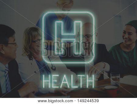 Health Hospital Icon Symbol Concept