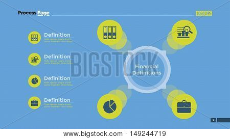 Diagram with options. Element of presentation, layout, diagram. Concept for business templates, infographics, reports. Can be used for topics like finance, strategy, analysis