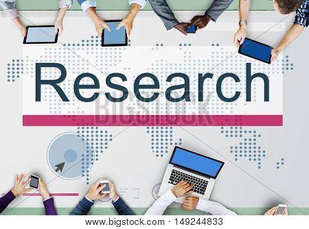 Research Education Exploration Information Concept