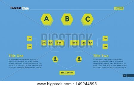 Flow chart slide template. Business data. Graph, diagram, design. Creative concept for infographic, templates, presentation, marketing. Can be used for topics like recruitment, training, planning.