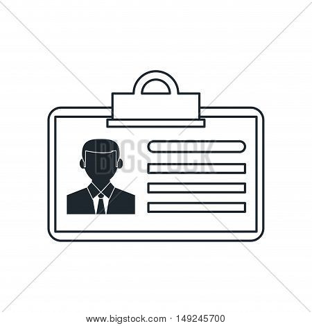 Id with photo icon. Business identity and officel theme. Isolated design. Vector illustration