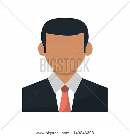 Businessman avatar icon. Business and company theme. Isolated design. Vector illustration