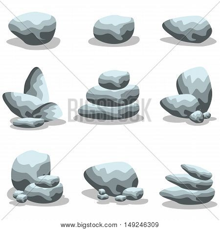 Rock style collection stock vector art illustration