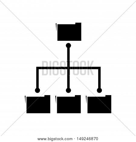 Folders icon. Files document data and archive theme. Isolated design. Vector illustration
