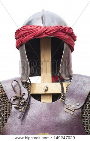 Reconquest moorish warriors armour suit isolated over white background