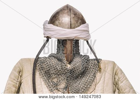 Reconquest moorish warrior armour suit isolated over white background