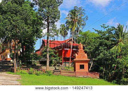 Buddist Temple In Cambodia