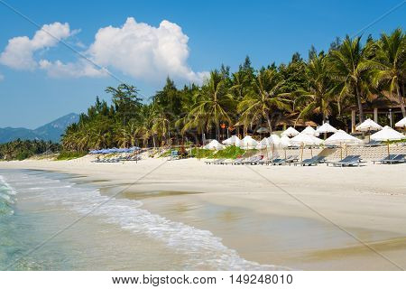 Doc Let beach with white sand, Vietnam