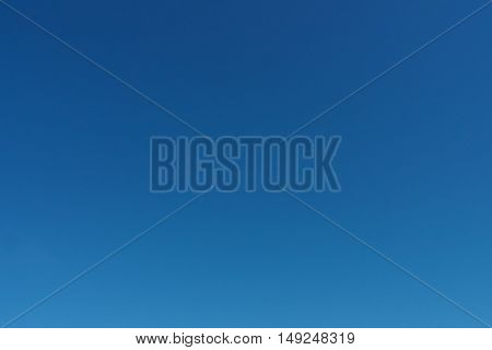 Photo of Clear blue sky background of nature