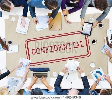 Confidential Personal Privacy Restricted Graphic Concept