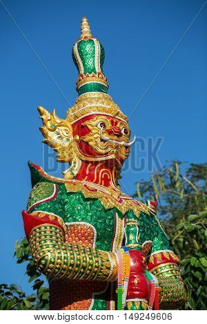 Giant Tos-sa-kan Lord of 10 face dramatic bud-da in THAILAND