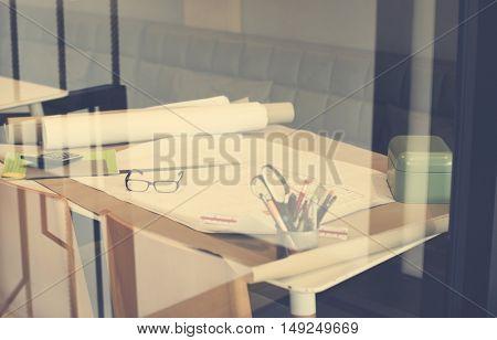 Architect Design Project Blueprint Plan Concept