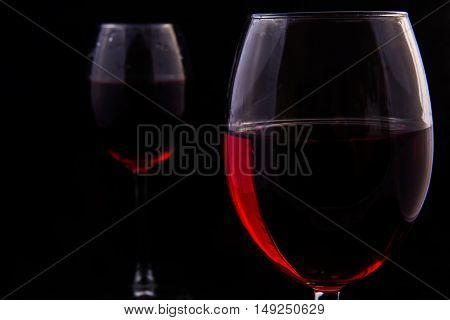 Two Glasses Of Red Vine